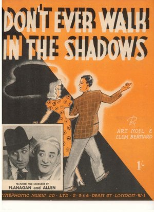 Don't ever walk in the shadows - Old Sheet Music by Cinephonic Music Co Ltd