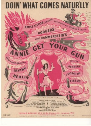 Doing what comes naturally - Old Sheet Music by Irving Berlin Ltd