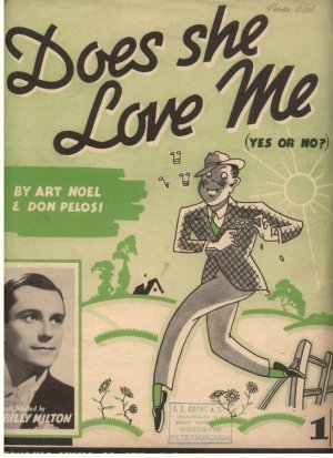 Does she love me - Old Sheet Music by Cinephonic Music Ltd