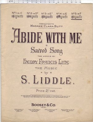 Abide with me - Old Sheet Music by Boosey & Co Ltd