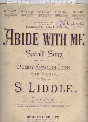 Abide with me - Old Sheet Music by Boosey & Co