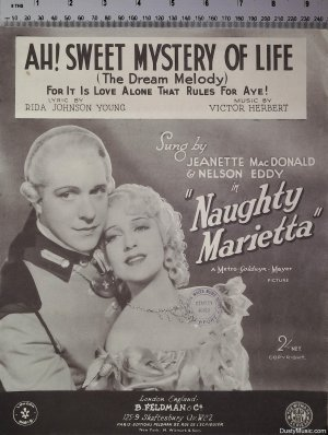 Ah sweet mystery of life - Old Sheet Music by Feldman