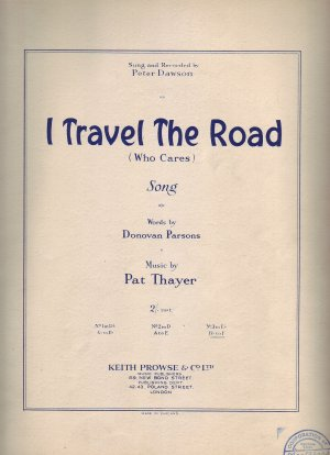 I travel the road - Old Sheet Music by Keith Prowse & Co Ltd