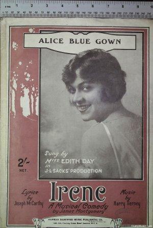 Alice Blue Gown - Old Sheet Music by Herman Darewski Music Publishing Co