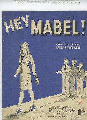 Hey Mabel - Old Sheet Music by Bradbury Wood Ltd