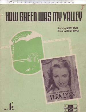 How green was my valley - Old Sheet Music by Peter Maurice