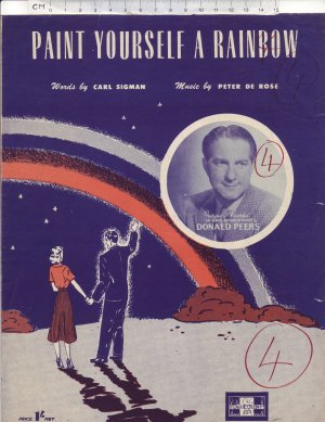 Paint yourself a rainbow - Old Sheet Music by Peter Maurice