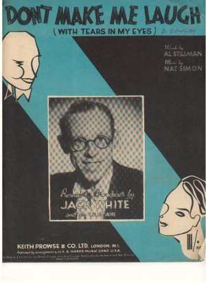 Don't make me laugh - Old Sheet Music by Keith Prowse Music Co Ltd