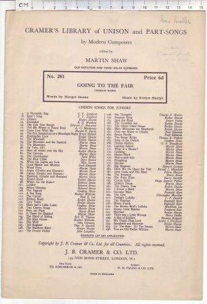 Going to the fair - Old Sheet Music by J B Cramer & Co Ltd