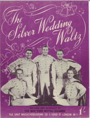 The silver wedding waltz - Old Sheet Music by The Unit Music Publishing Co