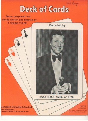 Deck of cards - Old Sheet Music by Campbell Connelly