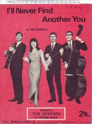 I'll never find another you - Old Sheet Music by Springfield Music Ltd