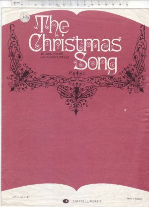 The Christmas song - Old Sheet Music by Chappell