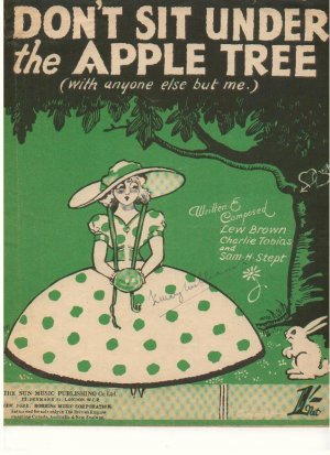 Don't sit under the apple tree - Old Sheet Music by Sun