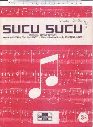 Sucu Sucu - Old Sheet Music by Peter Maurice