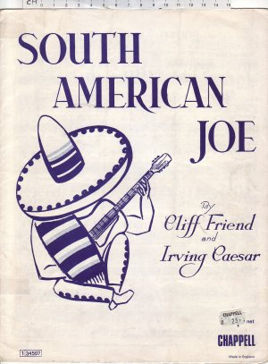 South American Joe - Old Sheet Music by Chappell