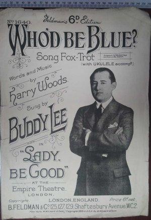 Who'd be blue - Old Sheet Music by Feldman
