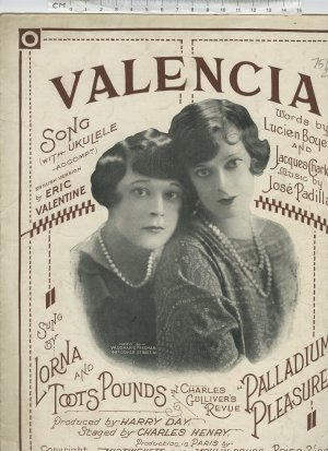 Valencia - Old Sheet Music by Salabert