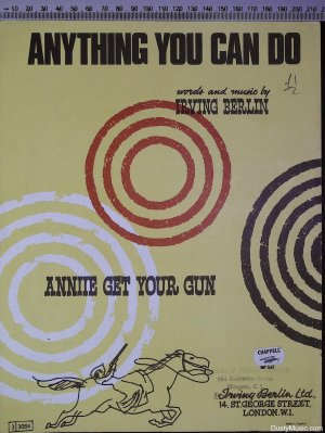 Anything you can do - Old Sheet Music by Irving Berlin