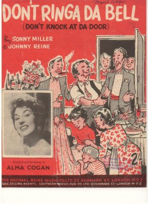 Don't ringa da bell - Old Sheet Music by Southern