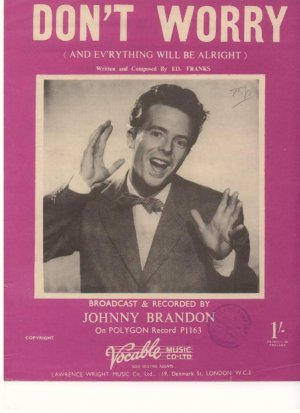Don't worry - Old Sheet Music by Lawrence Wright