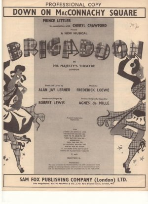 Down on MacConnachy square - Old Sheet Music by Keith Prowse