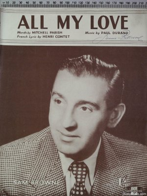 All my love - Old Sheet Music by Peter Maurice