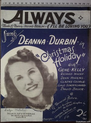 Always - Old Sheet Music by Francis Day & Hunter
