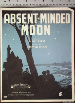 Absent minded moon - Old Sheet Music by Bradbury Wood