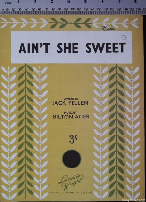 Ain't she sweet - Old Sheet Music by Lawrence Wright