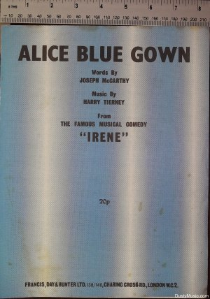 Alice Blue Gown - Old Sheet Music by Francis Day & Hunter