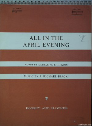 All in the April evening - Old Sheet Music by Boosey & Hawkes