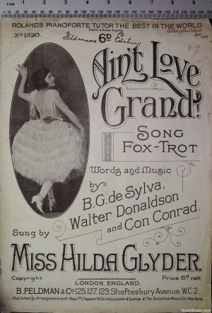 Ain't love grand - Old Sheet Music by Feldman