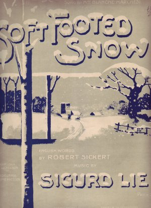 Soft footed snow - Old Sheet Music by Lengnick