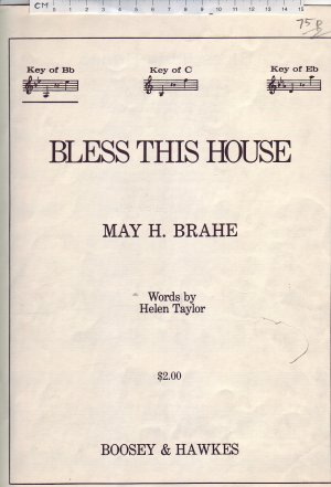 Bless this house - Old Sheet Music by Boosey & Hawkes