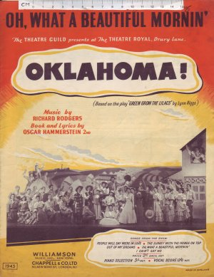 Oh what a beautiful mornin' - Old Sheet Music by Williamson