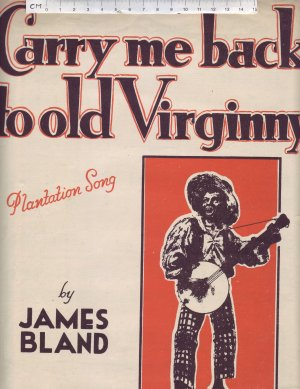 Carry me back to old Virginny - Old Sheet Music by Paxton