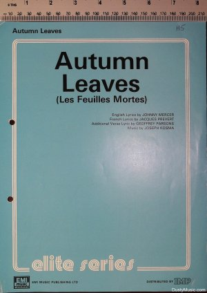 Autumn leaves - Old Sheet Music by EMI