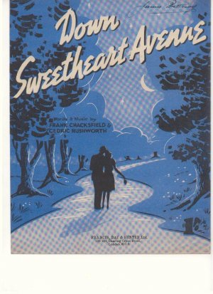 Down Sweetheart Avenue - Old Sheet Music by Francis Day & Hunter