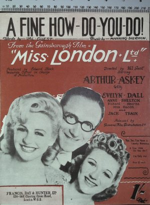 A fine how do you do - Old Sheet Music by Francis Day & Hunter