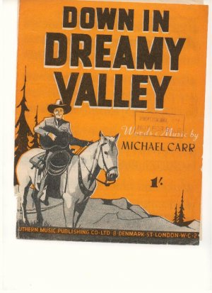 Down in Dreamy Valley - Old Sheet Music by Southern