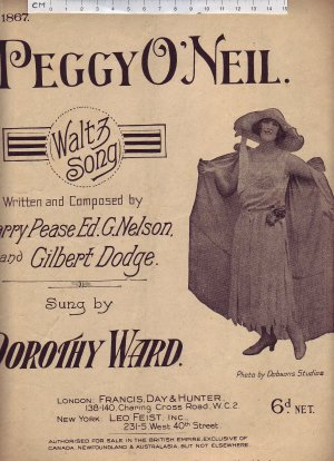 Peggy O'Neil - Old Sheet Music by Francis Day & Hunter