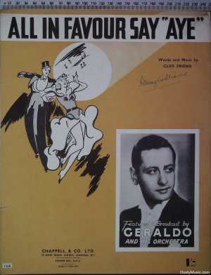 All in favour say aye - Old Sheet Music by Chappell