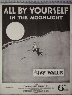 All by yourself in the moonlight - Old Sheet Music by Cambridge