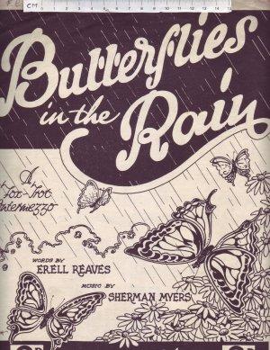 Butterflies in the rain - Old Sheet Music by Lennox