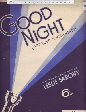 Good night - Old Sheet Music by Sun
