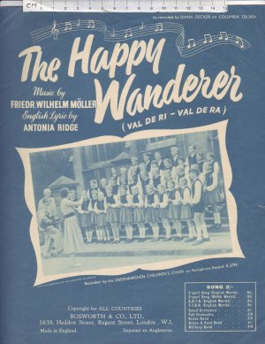 The happy wanderer - Old Sheet Music by Bosworth & Co Ltd