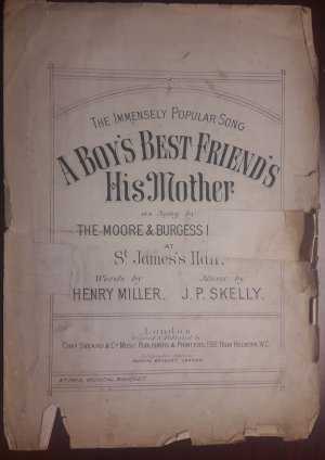 A boy's best friend is his mother - Old Sheet Music by Howard