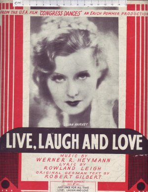 Live laugh and love - Old Sheet Music by Campbell Connelly