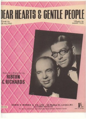 Dear hearts and gentle people - Old Sheet Music by Morris